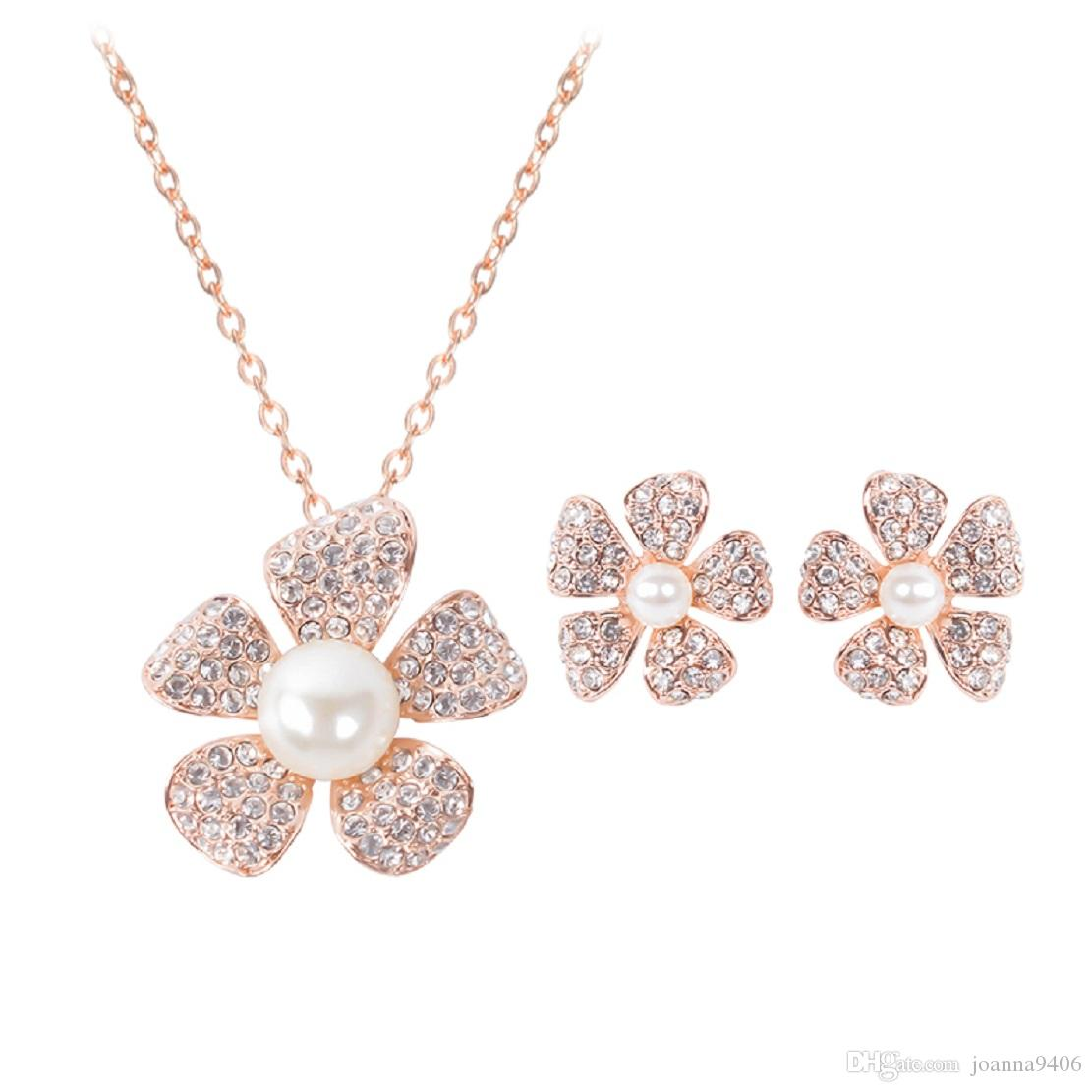 2017 Plum Flower Dress Fashion Wedding Banquet Jewelry Sets Tous Stainless St