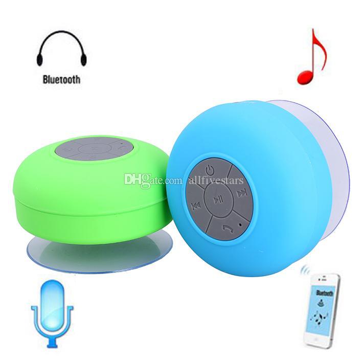 bts06 soft rubber material water resistant bluetooth shower speaker with sucker portable waterproof wireless