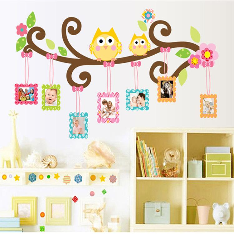 Picture Frame Wall Decals mascot owl picture frame wall decal stickers colorful owls photo