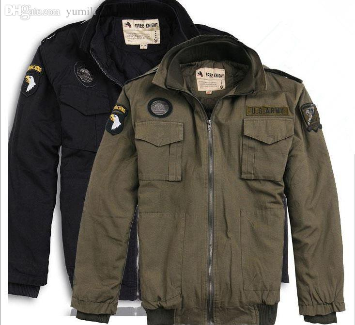 Fall Men U.S. Army Air Force Paratrooper Flight Jackets Detachable ...