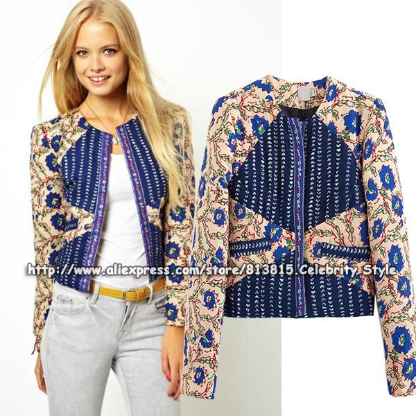 Cheap Ladies Floral Bomber Jacket | Free Shipping Ladies Floral