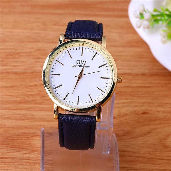 Womens watch leather brown watches small watches for womens leather mens army military wrist for Small size womans watch