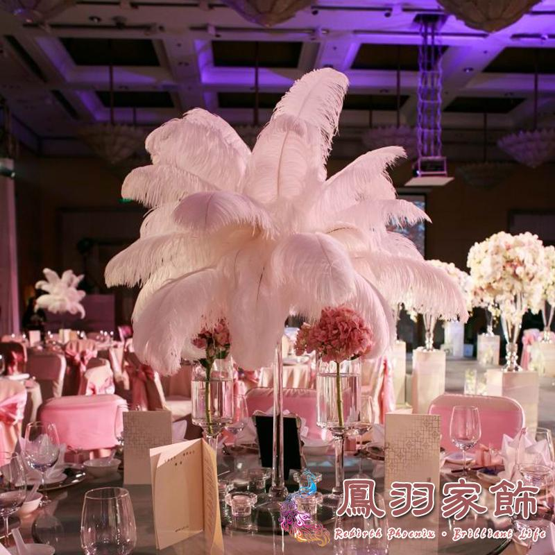 Snow white wedding decorations ostrich plumes