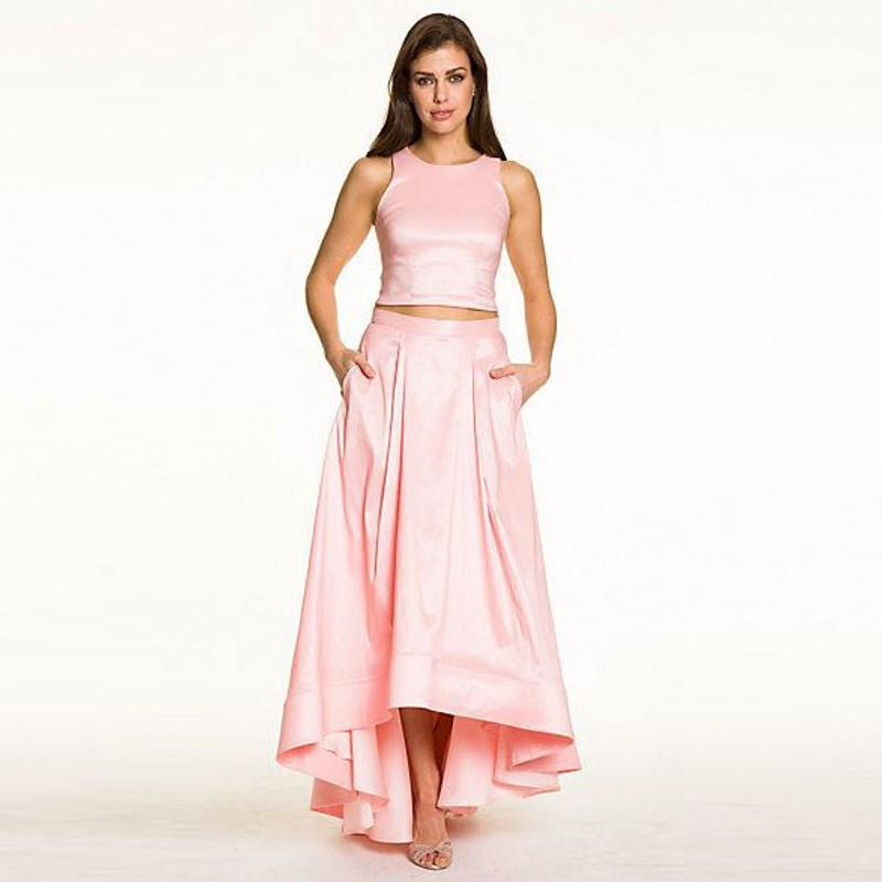 high low light pink skirts for fashion taffeta