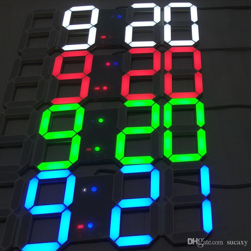 Creative touch buttons key control large led digital wall Cool digital wall clock