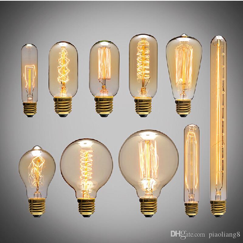 Incandescence Big Edison Light Bulb Source St64 G80 G95 G125 40w Power Vintage
