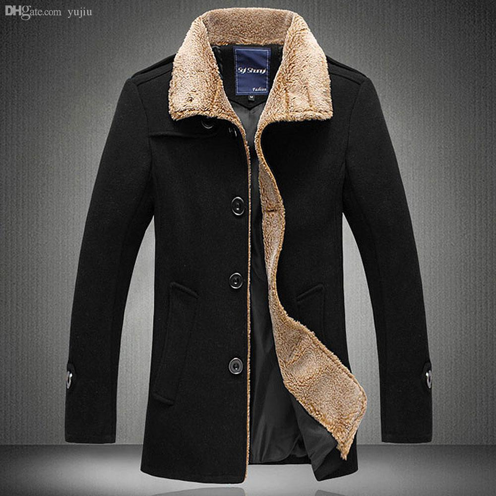 Best Fall New Men'S Jacket High Quality Wool Coats Thickening