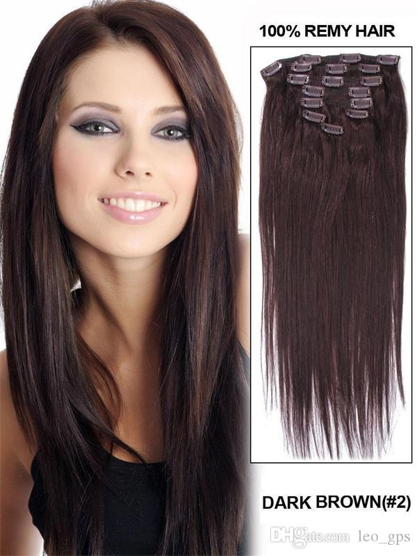 16 100 remy human natural hair clip in hair extensions full head 16 100 remy human natural hair clip in hair extensions full head set straight extensions black brown 3270g hair extensions human hair wig online with pmusecretfo Choice Image