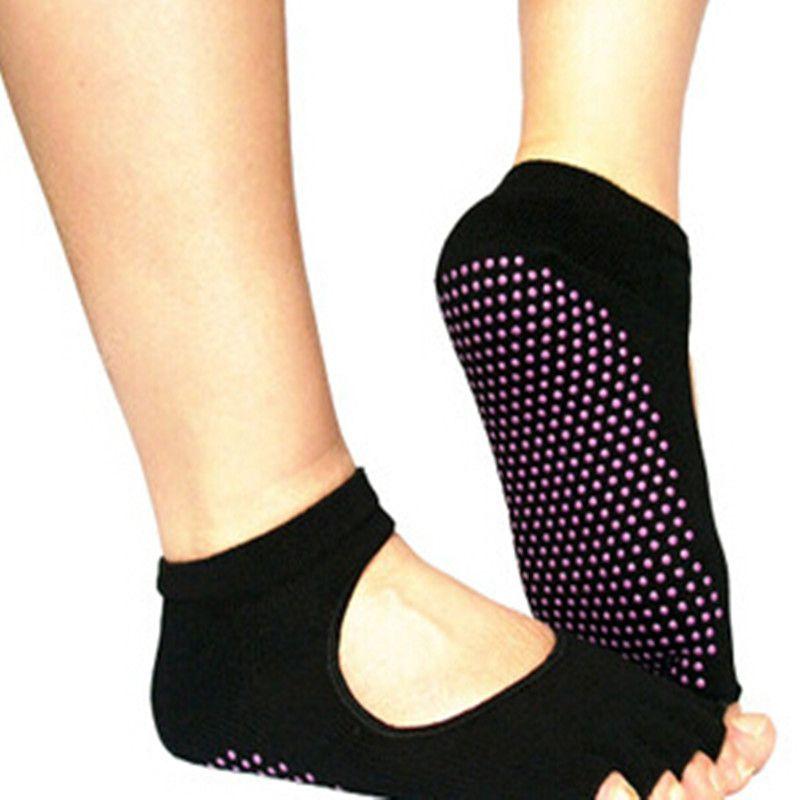 Men and Women Dig back Professional Yoga Socks Five Fingers Antiskid ...