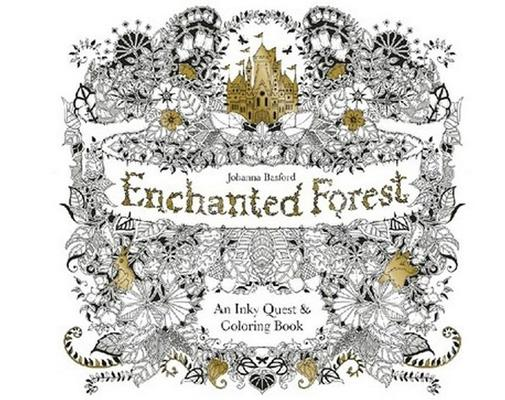 Coloring Therapy For Adults Online : Enchanted forest secret garden an inky quest colouring book adult
