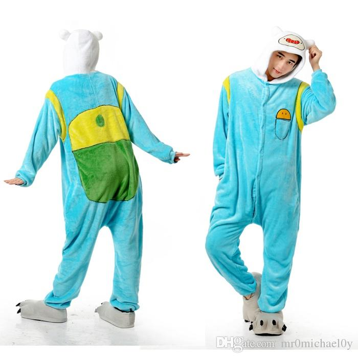 Adventure Time Finn Women Sleepwear Animal Onesies Pajamas Cosplay Costumes Animal Onesies Pyjamas For Adults Halloween Costumes