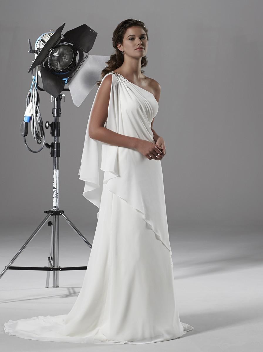 Discount greek chiffon beach wedding dresses 2016 plus for Greek wedding dress designers