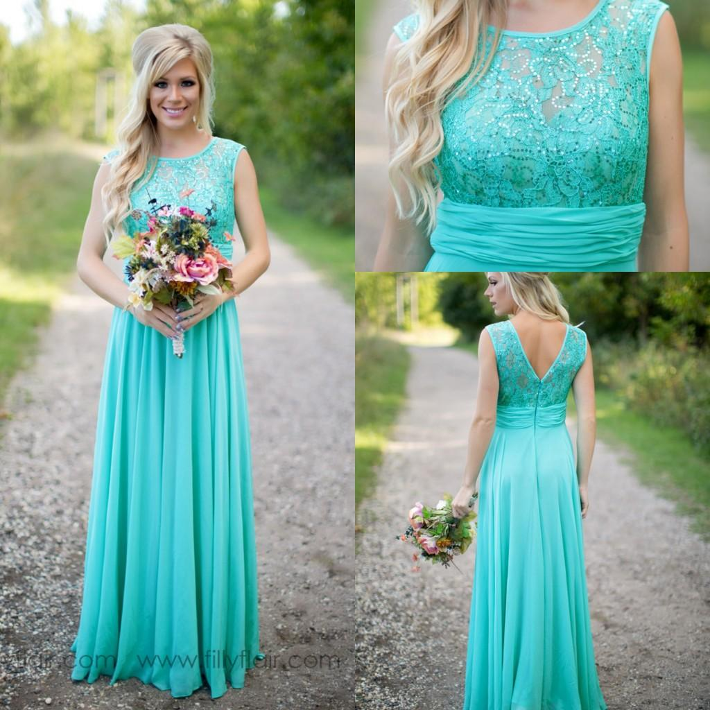 2016 new arrival turquoise mint green beach bridesmaid for Green beach wedding dresses