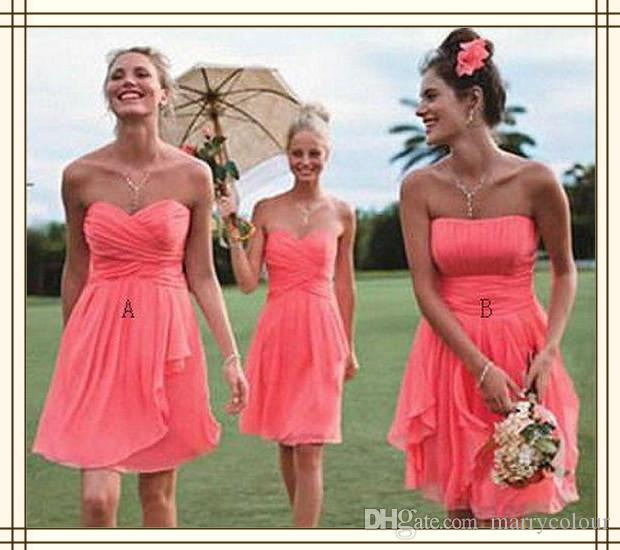 Wholesale under 100 sweetheart short bridesmaid dress for Short white wedding dresses under 100