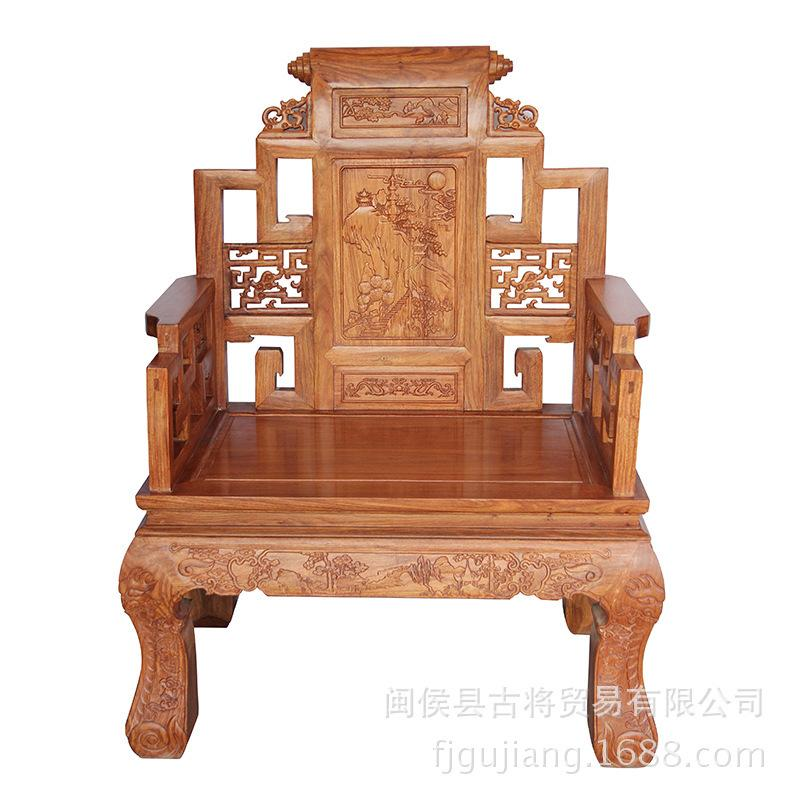 2017 the trade of african pear landscape ancient throne for Chinese furniture wholesale
