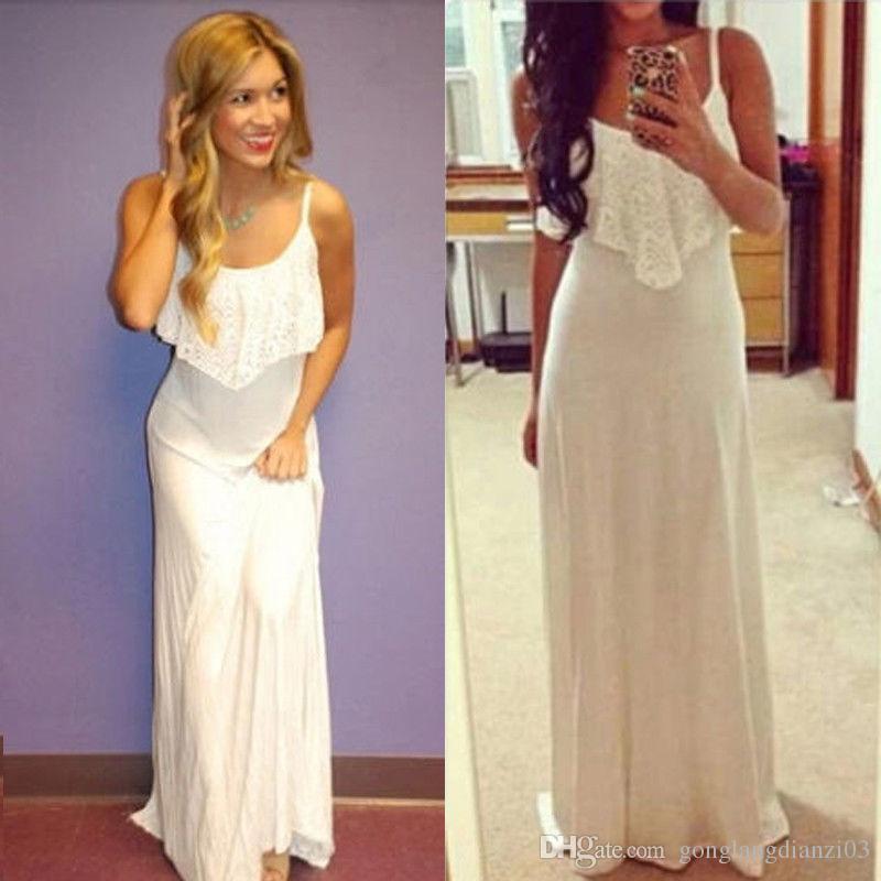 White Maxi Dresses Online