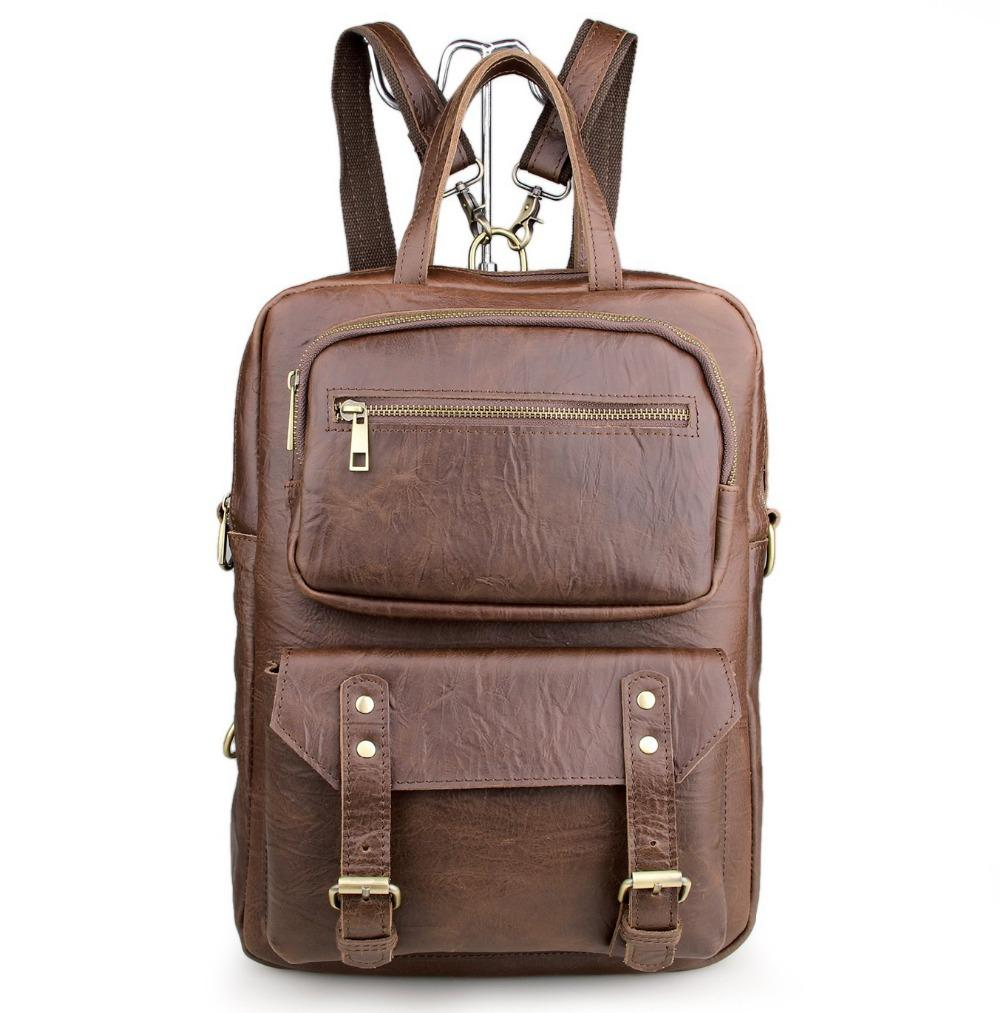 Men Bags Large Capacity Vintage Oil Wax Leather High End Men ...