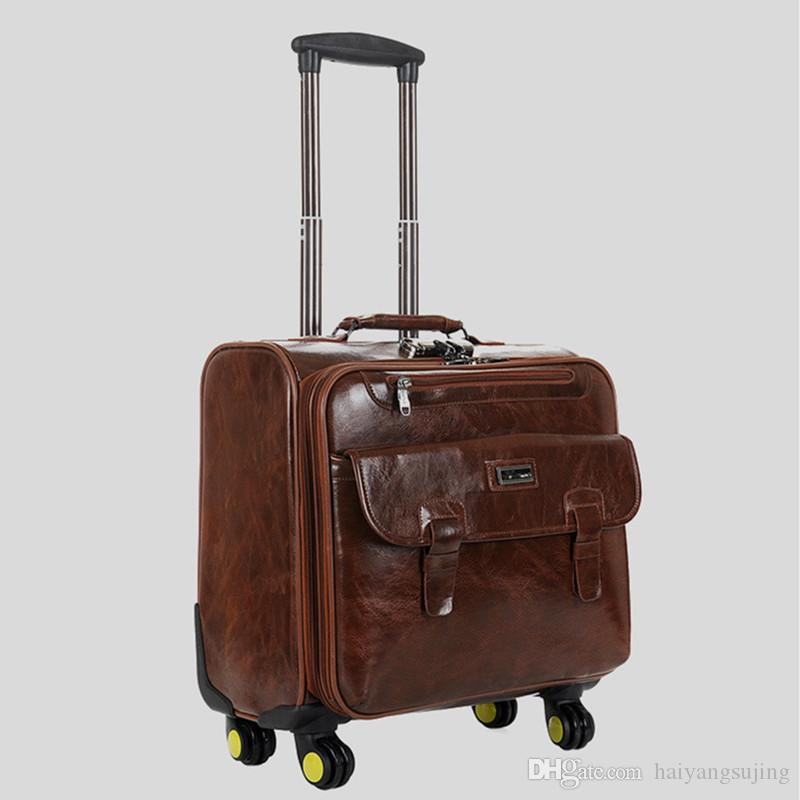 18 Inch Trolley Bags With Drawbar Women Suitcase Box Men Travel ...