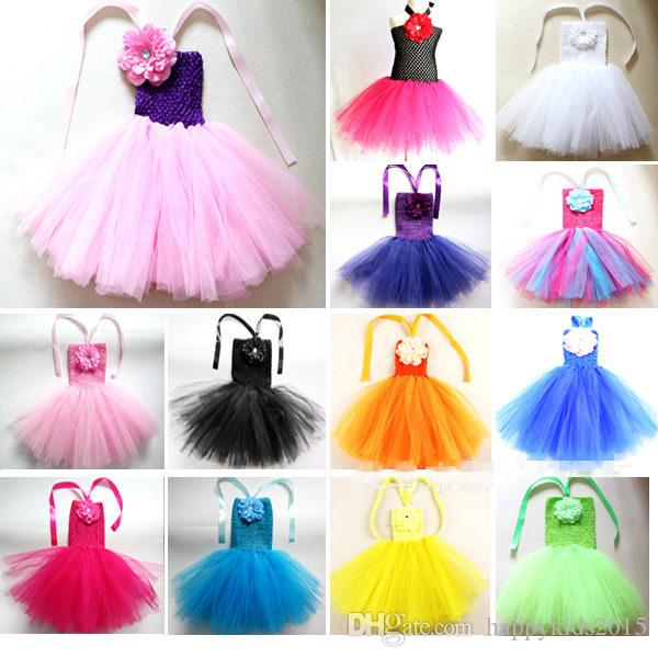 Cute Baby TUTU Dress Infant Toddler Girls Crochet Ballet Straps ...