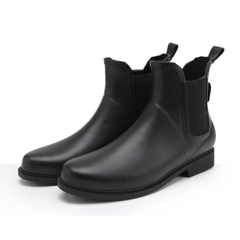 2017 2016 New Women Rain Boots Black Matte Waterproof Ankle Boots ...