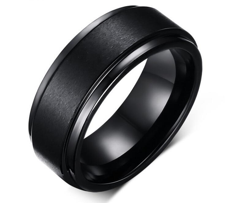 fashion tungsten carbide rings black mens rings wholesale