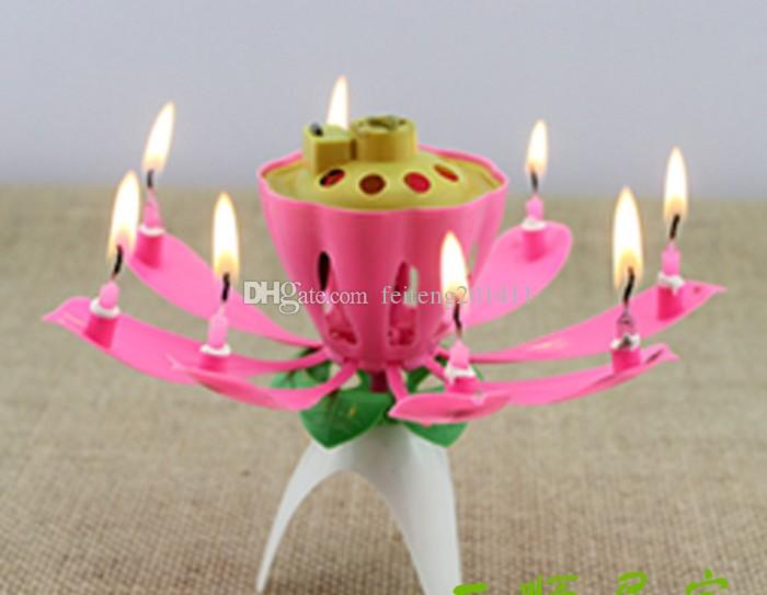 Beautiful Birthday Gift Flower Music Candle Flower Music Candle