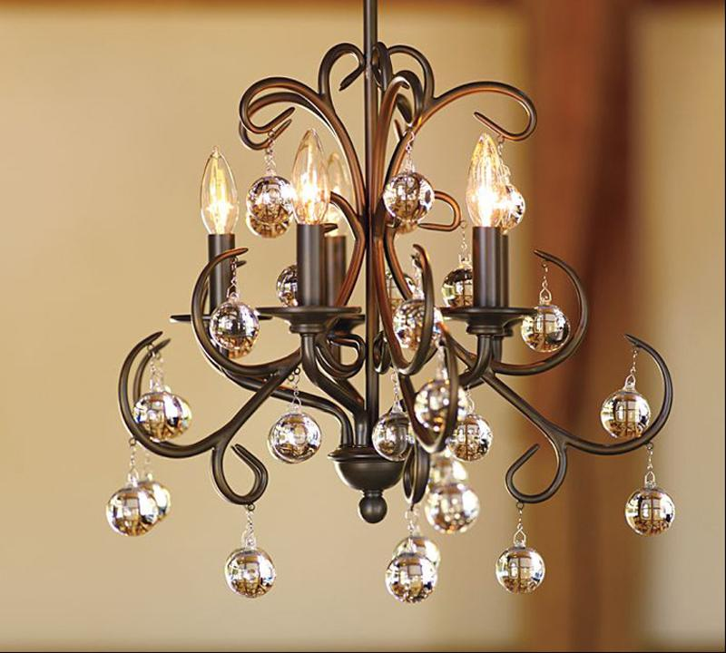 High Quality LED Chandelier Crystals Iron Pendant Lights Modern ...