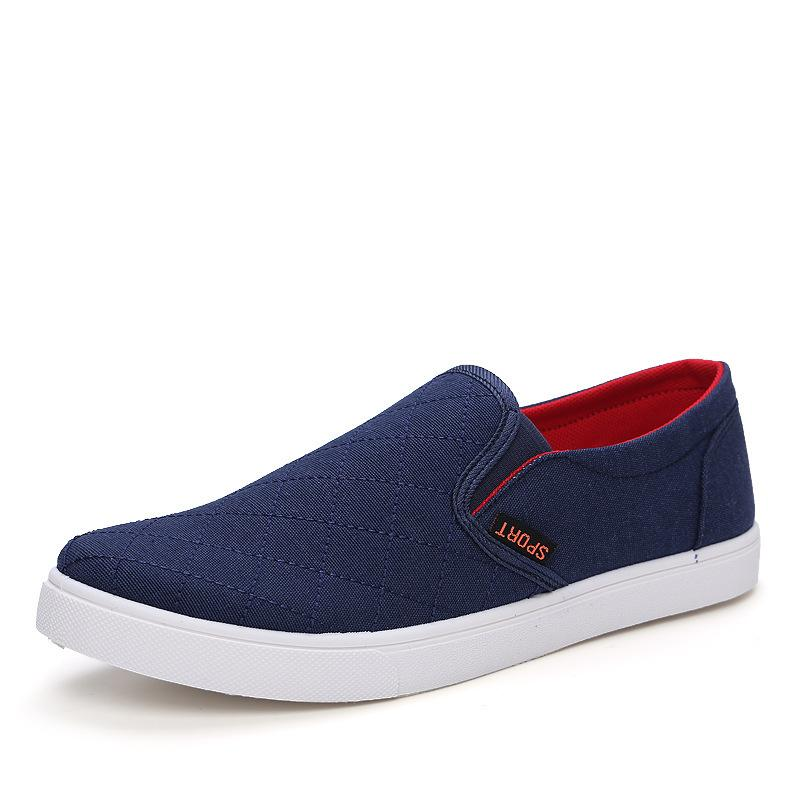 New 2015 Spring Menu0026#39;S Shoes Jeans Canvas Shoes Flat Heels Casual Shoes Men Sneakers Slip On ...