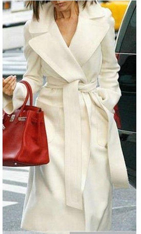 Стильные белые пальто женские