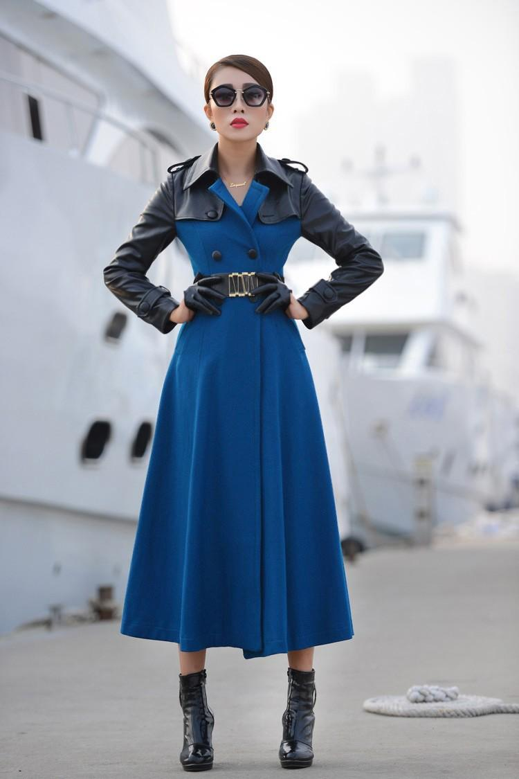 2014 new womens long trench coats down coats Christmas gift womens