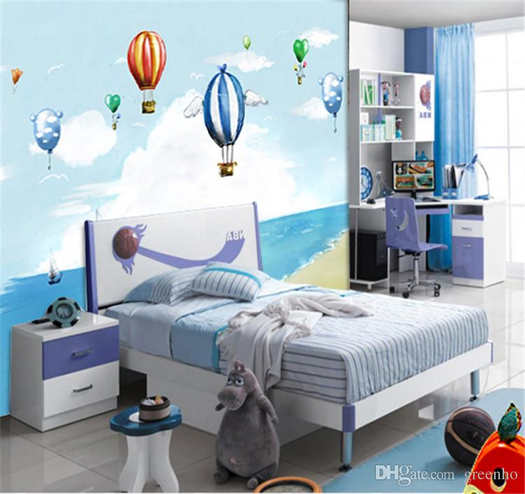 Cartoon Hot Air Balloon Photo Wallpaper Boys Kids Wall Mural Large Wallpaper Tv Background Wall Bedroom Kids Rooms Home Decor Wallpapers Hq Widescreen