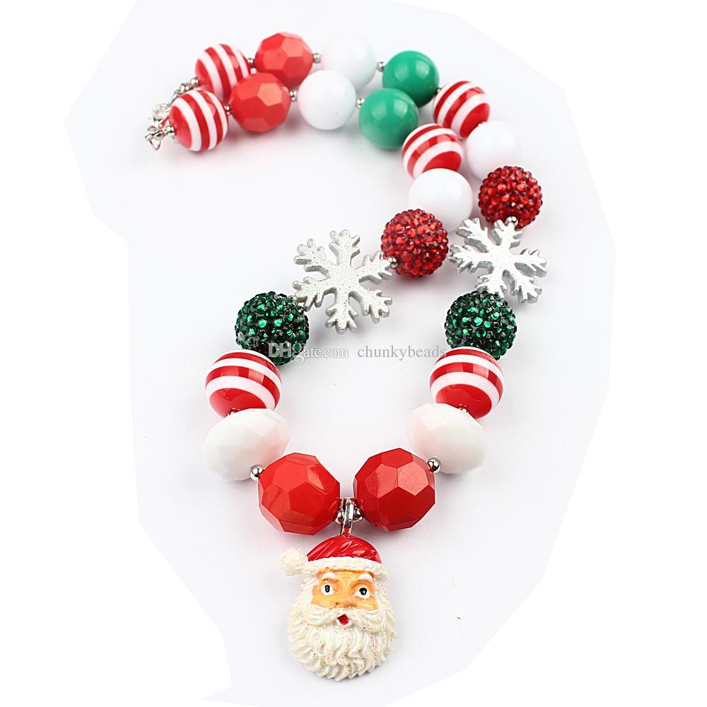 Niños de Navidad Collar Padre Navidad colgante DIY Collares Joyería para el envío del niño del