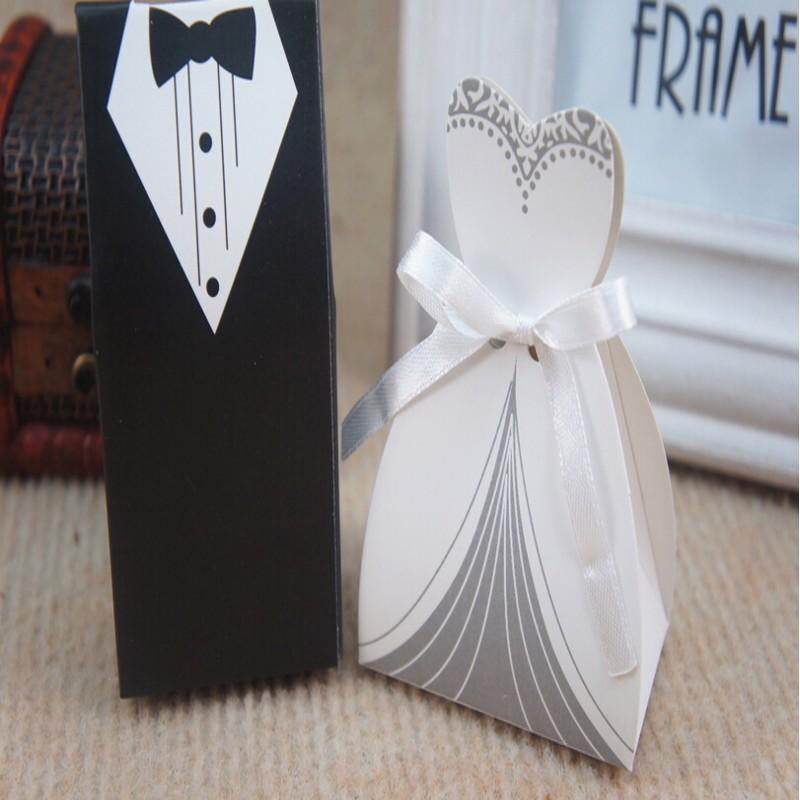 Cheap Wedding Favor Boxes Groom &Bride Papery 100pecs /Special Wedding ...