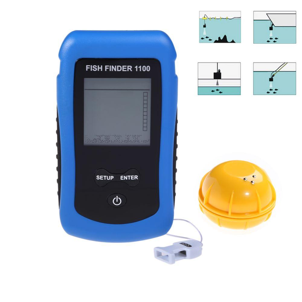 new wireless portable fish finder depth 125khz sonar sounder alarm, Fish Finder