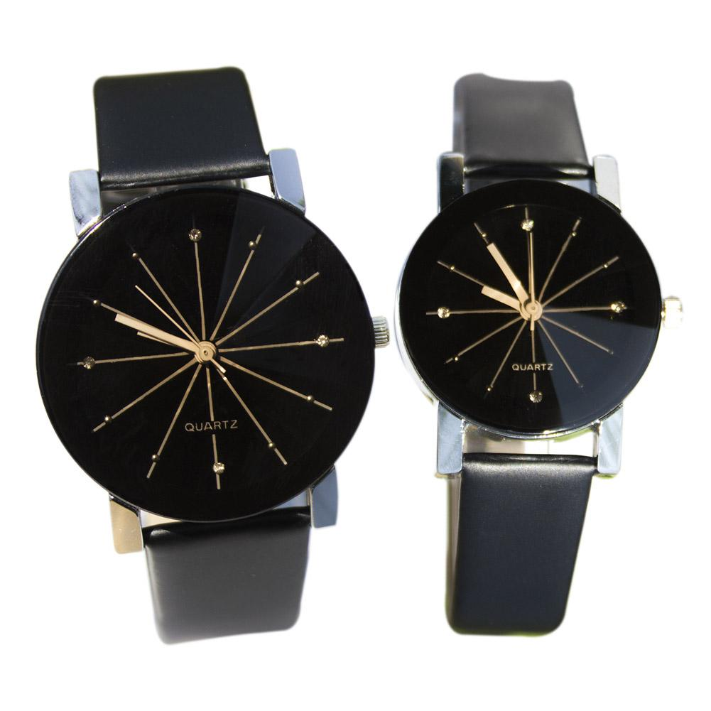 black men women s simple casual style pu leather watchband round black men women s simple casual style pu leather watchband round dial couples watch quartz wrist