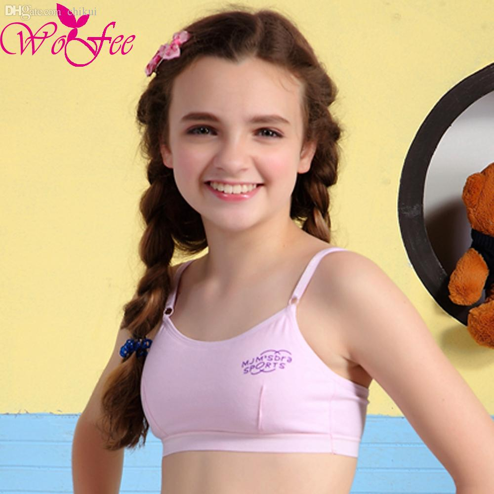 Wholesale Young Girl Underwear 100% Cotton Small Vest Bra Female ...