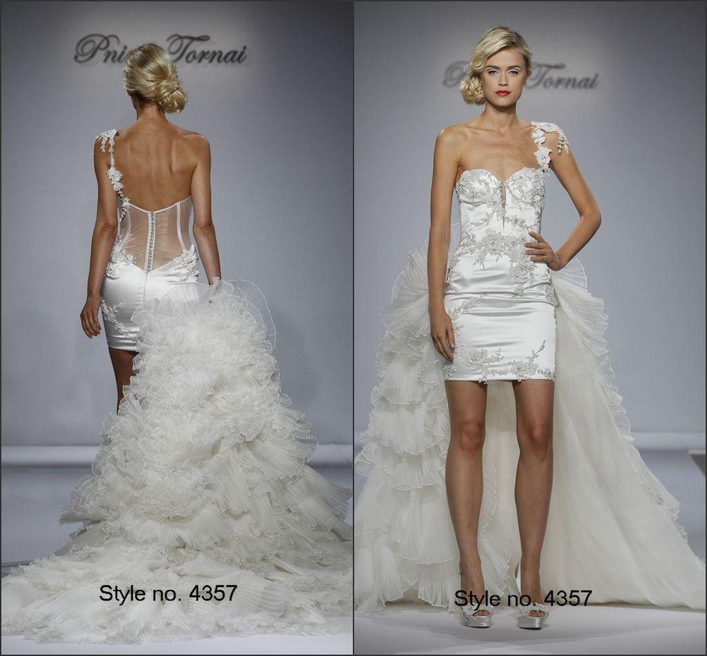y Pnina Tornai 2015 Bridal e Shoulder Low Back See