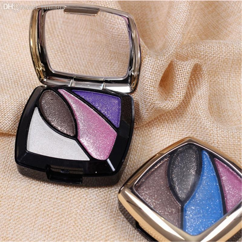 Wholesale-Hot sale new makeup Eyeshadow 4-color eye shadow makeup bare earth color Professional cosmetics free shipping S479