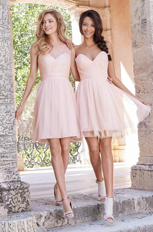 2015 short tulle bridesmaid dresses knee length for Short cheap wedding dresses under 100
