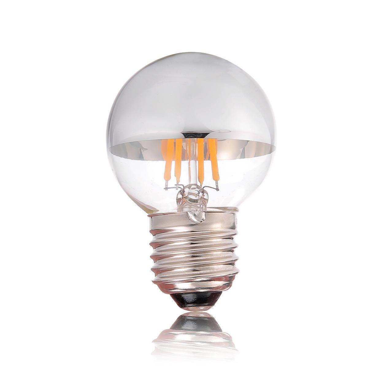 pas cher 4w dimmable sliver bowl vintage ampoule filament led blanc chaud g45 globe l. Black Bedroom Furniture Sets. Home Design Ideas