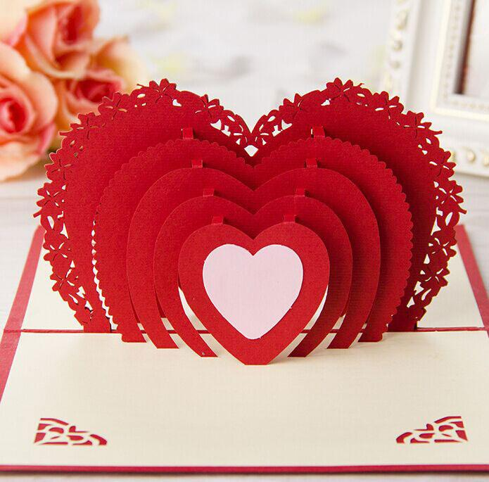 I Love You Red Heart Design Crafts Creative 3d Pop Up Birthday – Birthday Card Design Online Free