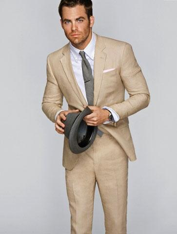 Brown Men'S Suit Dress Yy