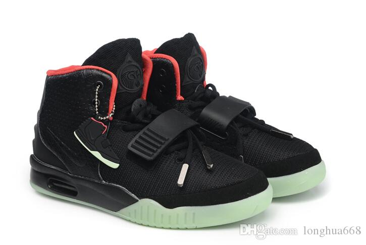 hot !! men sneakers Air yeezy 2 man red october hip hop sport shoes kanye west black pink glow in the dark trainers Lovers shoes from longhua668, ...