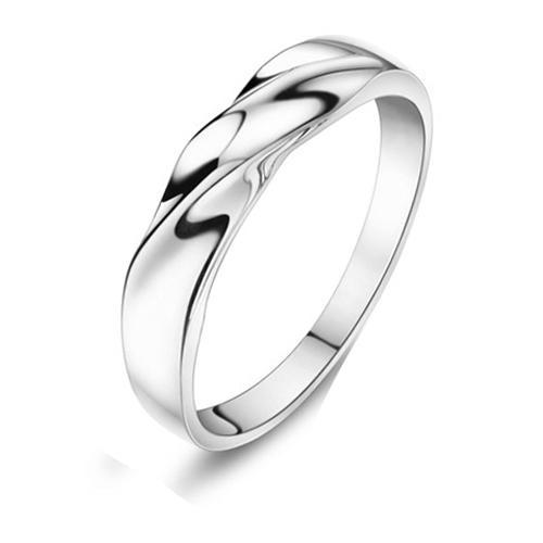 Simple None Stone 925 Silver Single RingWomen Or Men Jewelry