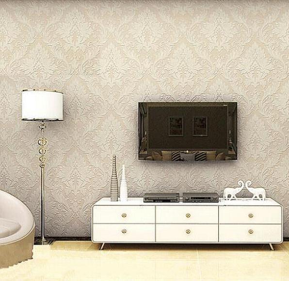 Home Decor Italian Wallpaper Non Woven Background Wall Damask Wallpaper For Living Room Bedroom Wallpaper