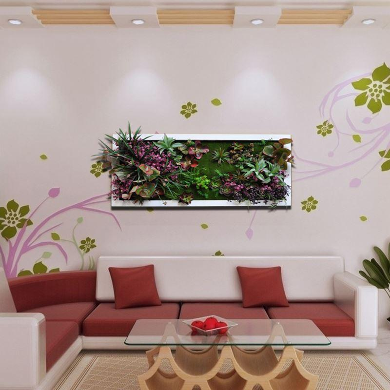 Artificial plants home wall decoration wall interior for Artificial plants for interior decoration