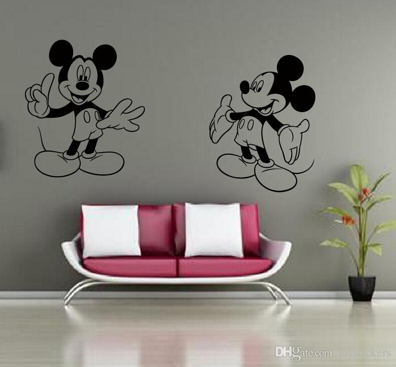 Mickey Mouse Minnie Mouse Miremovable Decal Home Decor Vinyl Decal Cartoon Outline Sketch Baby