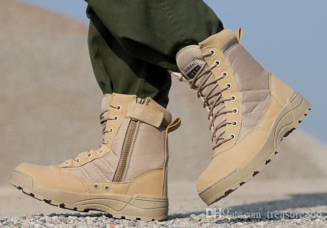 2017 Military Boots Desert High Top Hiking Boots Outdoor Boots ...