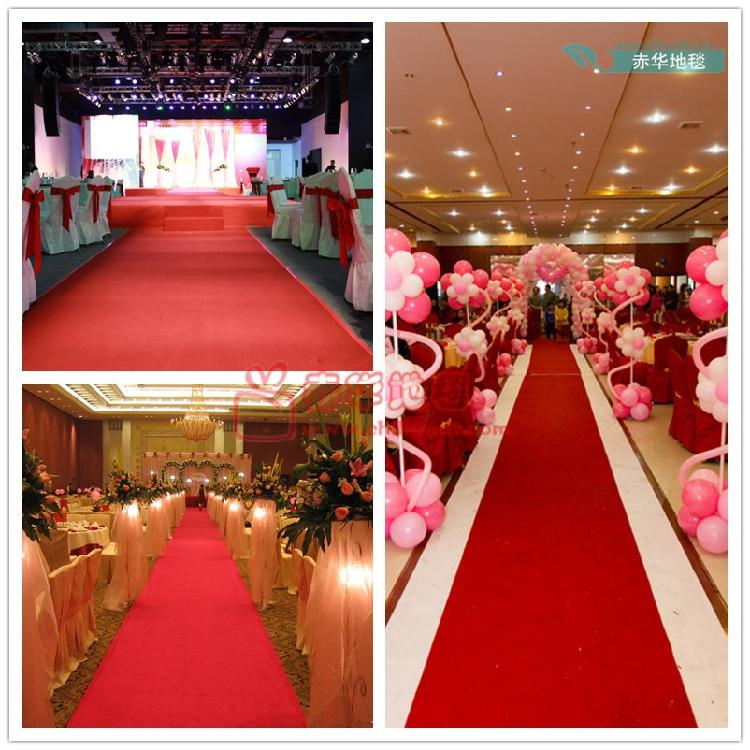 Wholesale Red Carpet Wedding Decoration Carpet Red Party Carpet Hotel Bar Dec