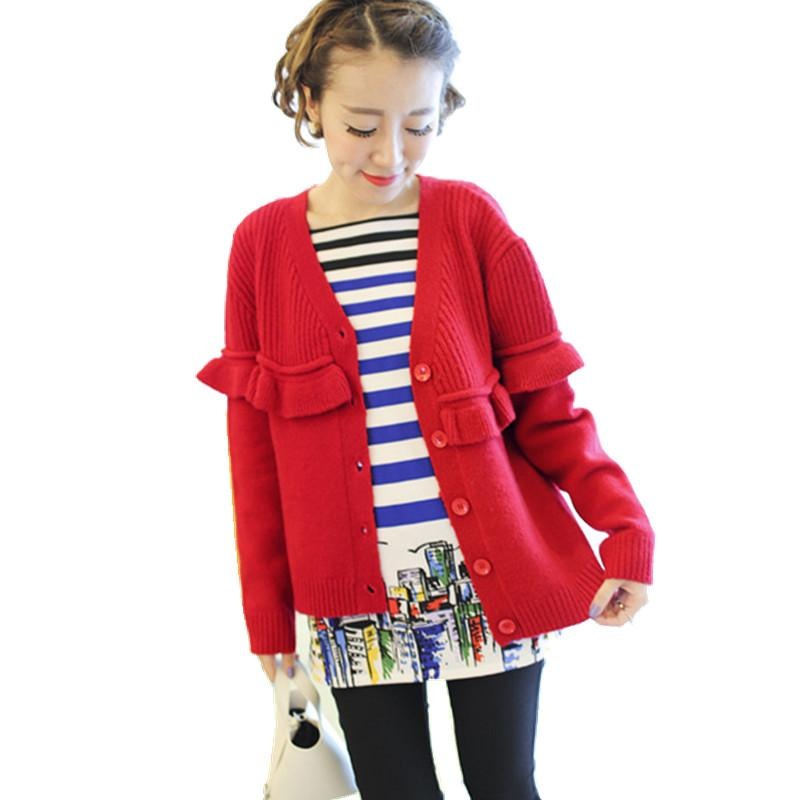 Wholesale- Spring Autumn Woman Cardigan Sweater Cute Ladies Ruched ...